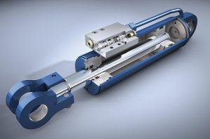 cilindro hidraulico 3D